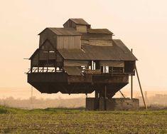 Gravity defying floating House in Ukraine