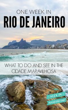 What to do and see if you only have one week in Rio de Janeiro, Brazil. Brazil travel guide.