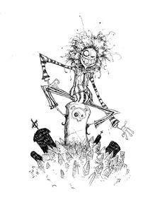 'Beetlejuice' by artist, Skottie Young. Tim Burton Sketches, Art Tim Burton, Tim Burton Stil, Tim Burton Artwork, Tim Burton Kunst, Film Tim Burton, Tim Burton Characters, Skottie Young, Tim Burton Personajes