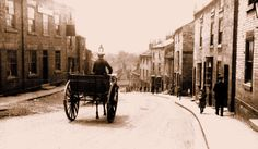 Top of Briggate , Knaresborough early century Close To Home, Street View, Snow, Outdoor, Outdoors, Outdoor Games, The Great Outdoors, Eyes, Let It Snow