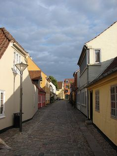 Street scene in the historic centre of the town of Odense (Denmark), not very far from H.C. Andersen's birth house