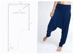 My famous and comfortable harem pants! ( I heard some say that they have moved in to live in them :) This Aladdin-shape pants are so soft and Diy Clothing, Clothing Patterns, Sewing Patterns, Sewing Pants, Sewing Clothes, Fashion Sewing, Diy Fashion, Harem Pants Pattern, Drop Crotch Pants