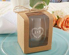Kraft 9 oz. Glassware Gift Box (Set of 12)   My Wedding Favors