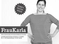 Oberteile & Jacken - Schnittreif-Schnittmuster  FrauKarla - ein Designerstück von Nadelkissen-und-Garnrolle bei DaWanda