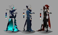 Outfit design - Zodiacs - 1 - closed by LotusLumino on DeviantArt