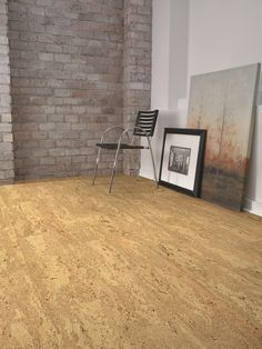 Traditional Square Edge Natural Cork Floating Floors Provide A Visually Seamless Floor For Wide