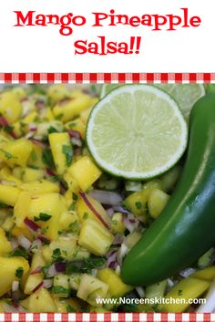 This mango and pineapple salsa if perfect to take along to holiday picnics and barbecues or even as a nice alternative to a summer potluck or church gathering. I always love to take something different and seasonal and fresh! This certainly fits the bill! Mango Pineapple Salsa, Summer Potluck, Summer Barbecue, Barbecues, Grilled Meat, Picnics, My Recipes, Cucumber, Alternative