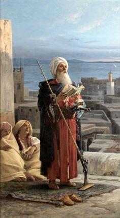 Jean Lecomte du Nouy - The Evening Prayer in Tangier Classic Paintings, European Paintings, Beautiful Paintings, Empire Ottoman, Arabian Art, Islamic Paintings, Academic Art, Turkish Art, Classical Art