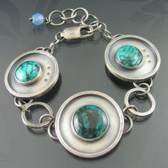 apocalyptic turquoise sterling silver by NRjewellerydesign on Etsy, £171.99