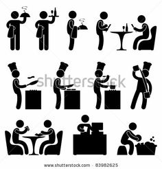 Man People Restaurant Waiter Chef Customer Icon Sy Stock Vector - Illustration of cashier, people: 20997932 Person Icon, Man Icon, Yoga Logo, People Icon, Stock Image, Business Icon, Stick Figures, Symbol Logo, Letter Logo