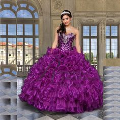 Find More Quinceanera Dresses Information about 2015 New Sexy Beading Purple Quinceanera Dresses Ball Gowns For 15 Years Party Gowns Vestido De 15  Anos In Stock QA511,High Quality gown corset,China gown design Suppliers, Cheap gown description from Julia wedding dress co., LTD on Aliexpress.com