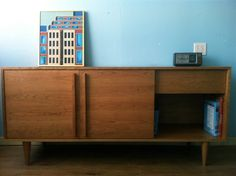 """Kasse Credenza / Media Console 66"""" In Solid Cherry.  Good size.  Kind of expensive but beautiful.  Doors slide again.  $1600 + $200-$400 shipping."""