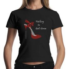 Walking In God's Grace High Heel Shoes Rhinestone Tee  best buy follow this link http://shopingayo.space