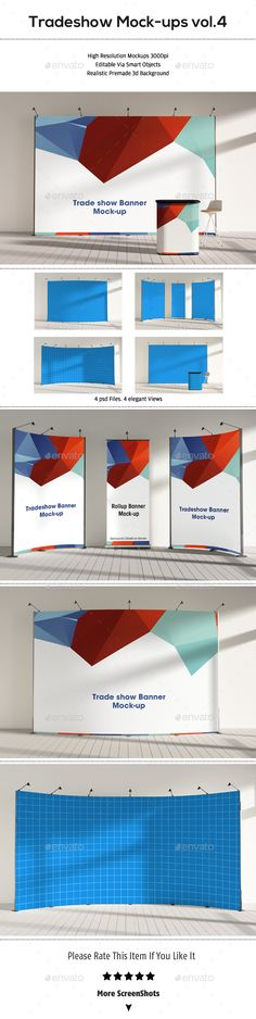Trade Show Booth Mockups Vol.4 — Photoshop PSD #branding #tradeshow • Available here → https://graphicriver.net/item/trade-show-booth-mockups-vol4/15329018?ref=pxcr