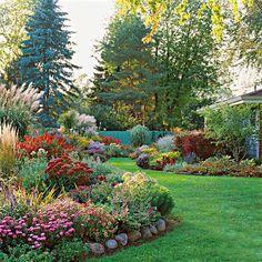 Beautiful sculpted flower beds.......