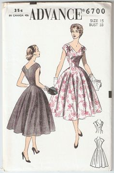 Vintage 1950s Advance Pattern 6700 Princess by ErnasGreatStuff, $9.99