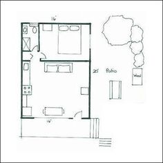 New Panel Homes 20 by 30 Traditional floor plan Small Tiny