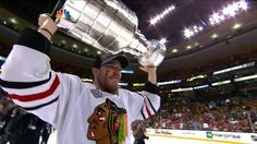 Andrew Shaw with the Cup