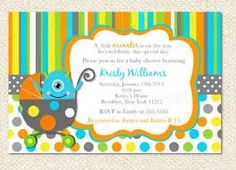 invitations  monster inc baby shower - Google Search