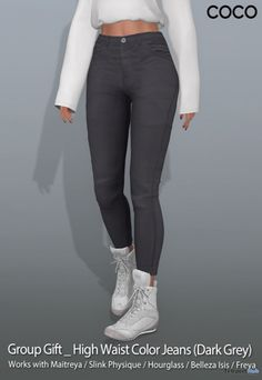 91601a9c398 High Waist Color Jeans Dark Grey September 2018 Group Gift by COCO Designs