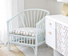 sarah m. dorsey designs: Rattan Chair Makeover (valspar mellow spring)