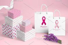 Breast Cancer Set by Nadezda Gudeleva on @creativemarket