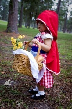 Halloween costume idea- very sweet! Daddy can be the lumberjack, sister will be 'lil Red, brother can be the wolf & I can be the Granny!