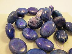 Close Out Purple Dyed Turquoise Magnesite Oval Beads by FLcowgirls, $3.40