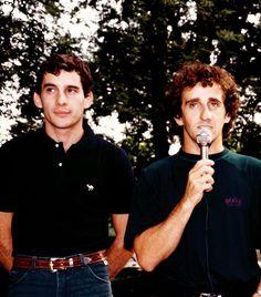 Senna y Prost. Duelo de titanes.