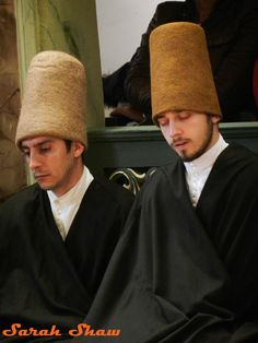 Dervishes mediate before the Sema Ceremony, Istanbul, Turkey   via WanderShopper