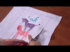 Embroidered Burp Cloths - YouTube