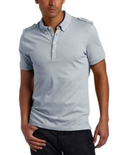 Kenneth Cole Men's Polo With Epaulettes