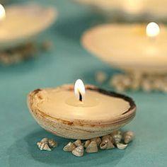 Seashell candles! @Joanna Foss