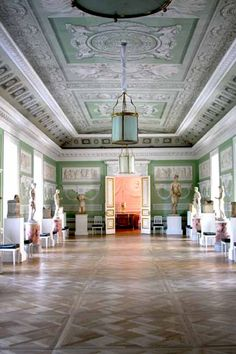 """The Church Gallery of Pavlovsk Palace was designed as a """"hall of antiquities."""" photo by Morgan Thomas"""