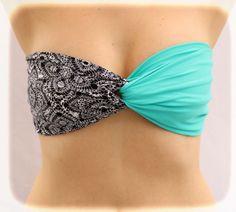 Swimwear-Bra-Bikini-Bandeau-Big-Bow-Red-Bandeau-Red---Lace-Print--Bandeau-Spandex,-Strapless-Bra,-Bandeau-Top,-Bandeau-Bikini