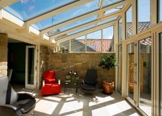 Orangery, Conservatory or Glass Extension differences explained Home, Outdoor Decor, Room Extensions, Remodel, House, Conservatory Interior, Home Greenhouse, Outdoor Living, Glass Door