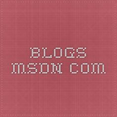 blogs.msdn.com Microsoft Applications, Microsoft Visual Studio, Microsoft Sql Server, Computer Engineering, Management, This Or That Questions, Blog, Blogging, Computer Science