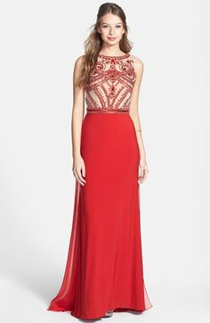 Sherri Hill Embellished Chiffon Gown available at #Nordstrom