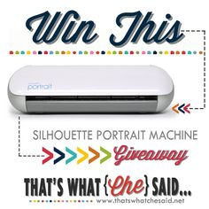 Win a Silhouette Portrait at thatswhatchesaid.net