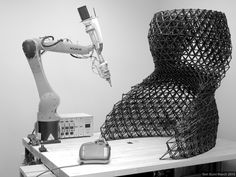 branch technology 3D printed wall with kuka robot