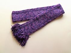 Lavender Fields Linen Stitch Scarf with Fringe by BeyondCrochet