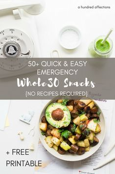 Are cravings giving you a hard time on Whole30? Before you give up, try these compliant emergency snacks - quick, easy, no recipe required! #whole30 #whole30snacks #healthysnacks #easywhole30snacks #quickwhole30snacks #whole30compliantsnacks #whole30emergencysnacks #whole30approved #whole30compliant