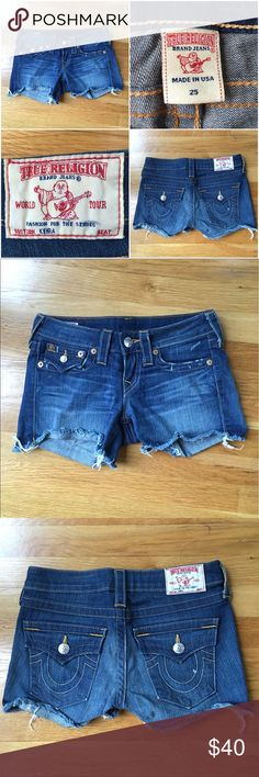 🔶True Religion Summer Short Shorts🔶 True Religion Summer Short Shorts - These shorts are in fantastic condition! Check out my other listings for great True Religion deals! Let me know if you have any questions. True Religion Shorts Jean Shorts