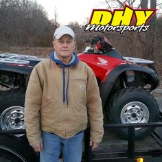 Congratulations to Steve from #Woodbury on his purchase of this 2013 #Honda #Rincon He'll be giving this ultimate 700 cc-class workhorse an ultimate workout and we'll be adding another happy customer to the #DHYMotorsports family! #mynewride #dhynj #quad