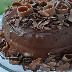 "Extreme Chocolate Cake | ""A rich moist chocolate cake with a chocolate buttercream icing. This is the best cake in the world!"""