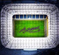 Amazing! Fenerbahçe Stadium here.. Mustafa  Kemal Atatürk's signature..