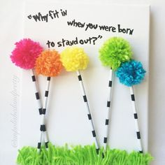 The Lorax canvas art Truffala trees Dr. by UnpolishedandPretty Dr Seuss Week, Dr Suess, Art Classroom, Classroom Themes, Art For Kids, Crafts For Kids, Dr Seuss Crafts, Dr Seuss Birthday, School Displays