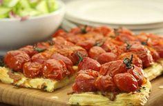 Cherry Tomato & Tapenade Tart
