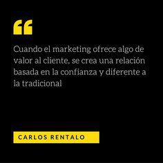 Cuando el #marketing ofrece algo de valor al cliente, se crea una relación basada en la confianza y diferente a la tradicional