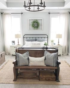 Cool 39 Decorating Farmhouse Master Bedroom on A Budget https://toparchitecture.net/2018/03/03/39-decorating-farmhouse-master-bedroom-budget/